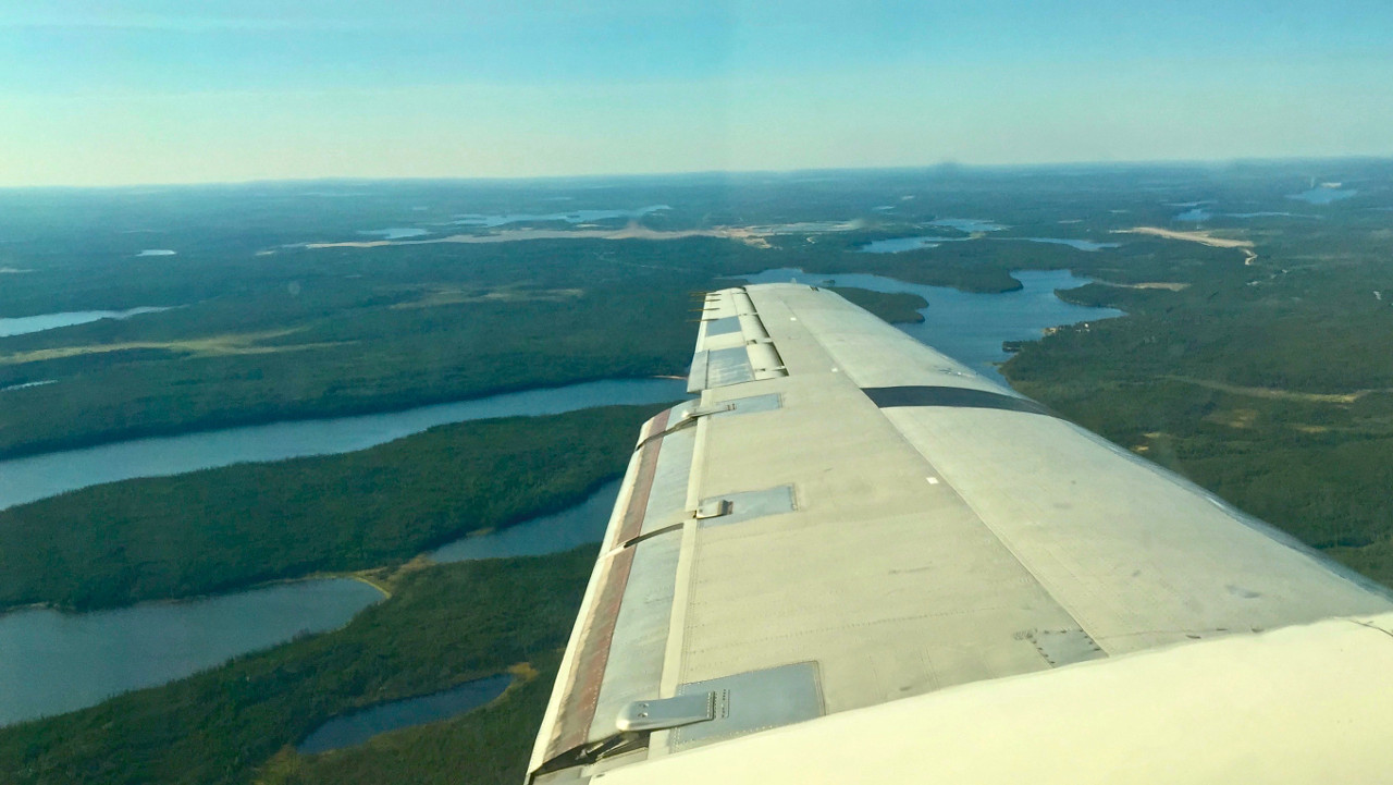 We Stopped Briefly In Lynn Lake Manitoba To Refuel Then Were Airborne Again Winging Our Way Ever Northward Finally Arriving At Kasba Lodge 45 Minutes